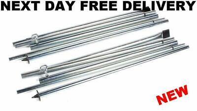 New Quality Universal Upright Pole Set Pair Rear Porch Awning Adjustable Poles