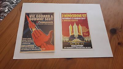The Monochrome Set Vic Goddard and the Subway Sect Double Sided Flyer Manchester