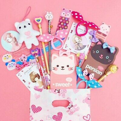 Pre Filled Luxury Kawaii Party Bag Pink Cute Stationery Kids Girls Gift 10 ITEMS