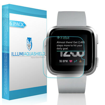 6x iLLumi AquaShield Clear Screen Protector for Fitbit Versa
