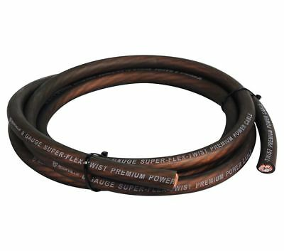 Rockville R0G100 BLACK 0 Gauge AWG 18 Foot Car Amp Power/Ground Wire Cable