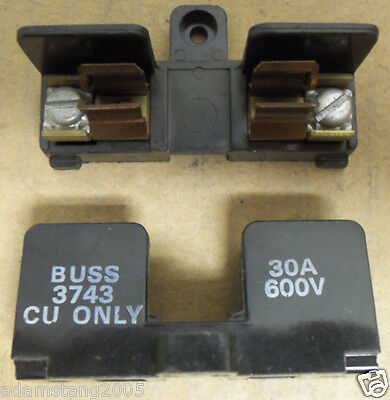 Bussmann Buss Fuse Holder 1 Pole CU Only 30 Amp 600v 3743 1 Per buy