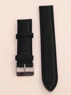 Genuine Black Leather Watch Band for the Samsung Gear S2 Classic L 20
