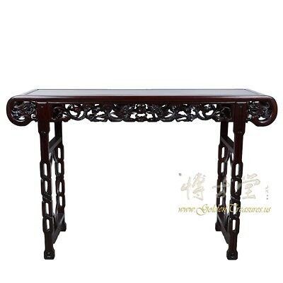 Chinese Antique Carved Rosewood Altar Table/Entry Console 18LP32