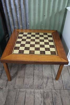 A Large Timber Chess Table with Foldable Legs - 75cm Square - Games Table