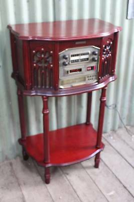 A Vintage Style Radiogram with AM/FM, 3 CD Stacker, Casette & Record Player*