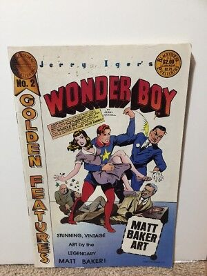 Jerry Inger's Wonder Boy #2 Golden Features Matt Baker Art Blackthrone Publishin