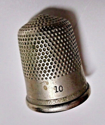Vintage Pewter Thimble No.10 sewing