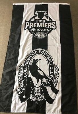 Collingwood -Dane Swan 2010 Signed Premiers Flag