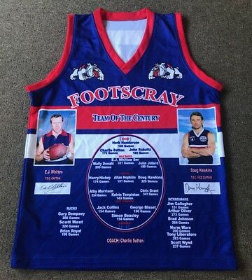 Footscray Team Of The Century Signed Doug Hawkins Jumper