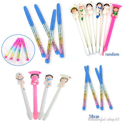 1PC Polymer Clay Doctor Nurse Pen Gel Ink Ball Point Pen Office Stationery Gift
