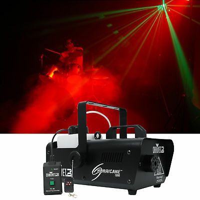 Chauvet DJ H1000 Hurricane 1000 Compact Fog Machine+Wired Remote-10,000 CFM