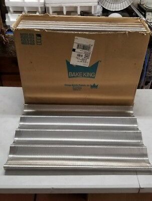 BAKE KING 44005 18x26 (6) Mould French Bread Baking Tray 6 QTY NEW IN BOX