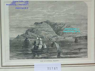 35181-Portugal-Portuguesa-Funchal-Madeira-T Holzstich-Wood engraving