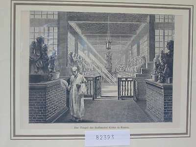 82393-Asien-Asia-China-Tempel-Kanton-Canton-T Holzstich-Wood engraving