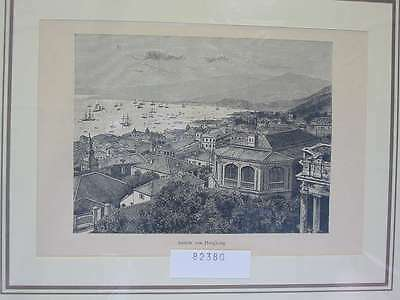 82380-Asien-Asia-China-Hongkong-T Holzstich-Wood engraving