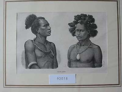 92018-Indonesien-Indonesia-Neuguinea-Papua-T Holzstich-Wood engraving