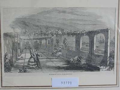 93770-Portugal-Portuguesa-Madeira  Villa nahe Funchal-TH-Wood engraving