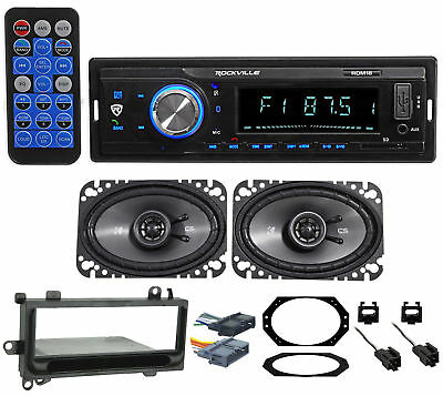 Digital Media Receiver/Radio+Kicker Front Speakers For 97-02 JEEP WRANGLER TJ