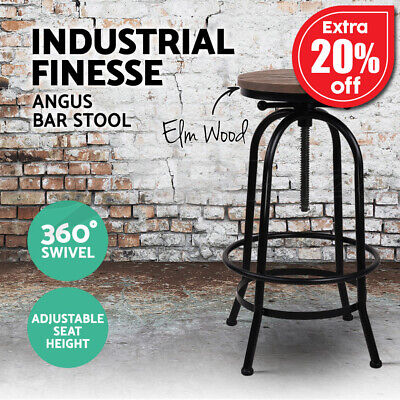 【20%OFF $62.32】1x Kitchen Bar Stools Vintage Bar Stool Retro Industrial Chairs