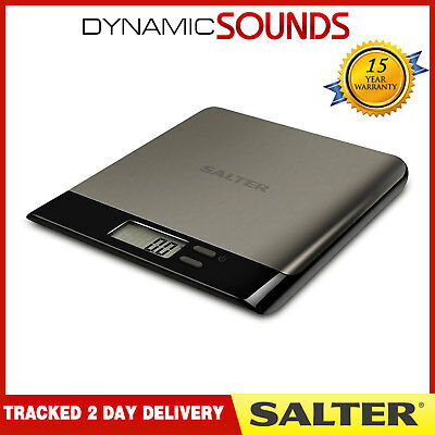 Salter 5kg Stainless Steel Pro Electronic Digital Kitchen Scales 1052 SSBKDR NEW