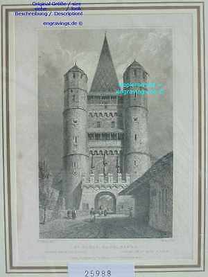 25988-Schweiz-Swiss-Switzerland-Basle-Basel-Stahlstich-Steel engraving-1832