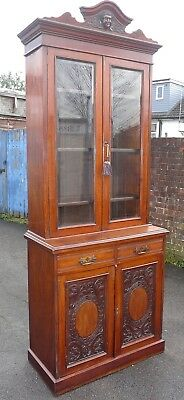 Antique Bookcase On Cupboard
