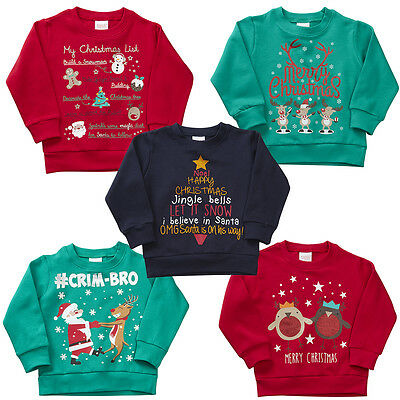 Kidz Childrens Christmas Novelty Jumper Sweatshirt
