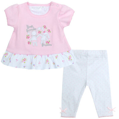 Babies / Girls Ditsy Bunny 2 Piece Top and Leggings Set