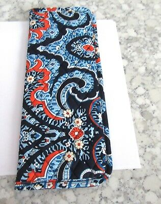 Vera Bradley Curling & Flat Iron Cover- Marrakesh-quilted- floral  blues orange