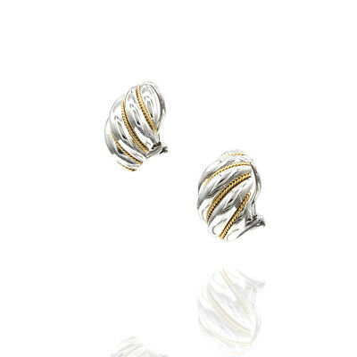 Tiffany & Co. Clip-On Earrings in Sterling Silver & 18K Gold| JH