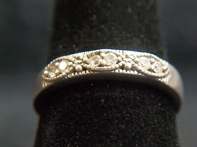 Sterling Silver Vintage 925 CZ Ring Sz 9 VERY NICE, FREE SHIPPING, BEAUTIFUL