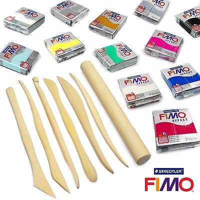 FIMO Effect Modelling Clay Professional Set -12 x 57g + 7 Pro Moulding Tools