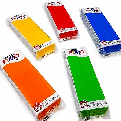 FIMO Soft 350g Polymer Modelling Clay - Oven Bake clay - Tropical Set of 5