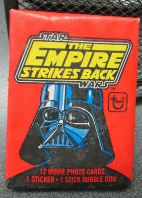 1980 Topps Star Wars The Empire Strikes Back Vintage Wax Pack Sealed 12 Cards +