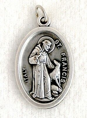 ST FRANCIS ASSISI and the WOLF Catholic Saint Medal patron animals poverty poor