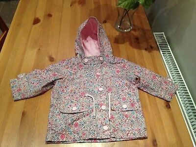 Baby Girl Age 12-18 Months Floral Lightweight Hooded Jacket From Next