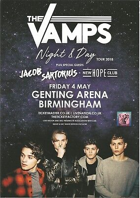 The Vamps  Night & Day Tour Birmingham 2018 Jacob Sartorius Hope Club  Flyer x 3