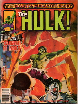THE HULK MARVEL MAGAZINE GROUP #25 1981 DOMINIC FORTUNE STAN LEE Carnival Fools