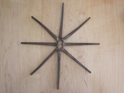 Lot Of 8 Vintage Square Nails Spikes 4 1/2 Inches Long