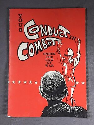 U.S. Military Booklet YOUR CONDUCT IN COMBAT TC 27-1