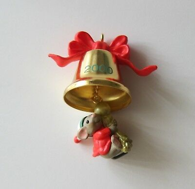 A Friend Chimes In Mouse Miniature Ornament Hallmark Keepsake New in Box 2000