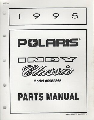 1990 POLARIS INDY Supertrak Snowmobile Parts Manual List - $8 00