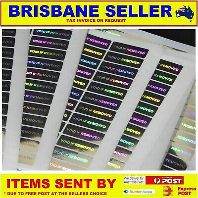 Warrany Void Stickers & Labels 3 X 1 Cm Gold Silver Serial Number Tamperproof