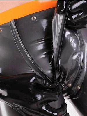 100% Latex New  Rubber Gummi Shorts Underwear With Sheath Black Size XXS-XXL