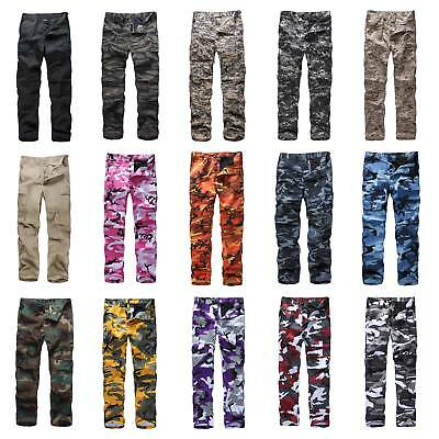 Mens Womens Casual Fashion Camo Cargo Pants Military Combat Army style BDU Pants