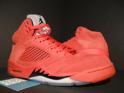 reputable site 8e6cc 442f8 NIKE AIR JORDAN V 5 Retro FLIGHT SUIT SUEDE UNIVERSITY RED BLACK 136027-602  9.5