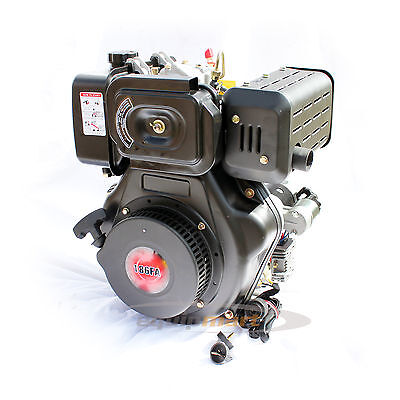 10HP Diesel Engine KD186FA 25.4mm Shaft Electric Start - Replacement Yanmar L100
