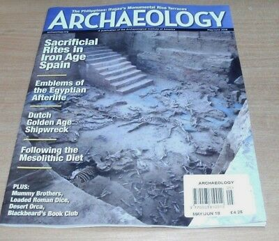Archaeology magazine MAY/JUN 2018 Ifugao's Rice Terraces, Iron Age Spain & more