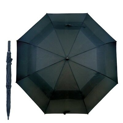 Vented Auto open Golf Umbrella Black